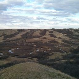 Leaning Over the Edge of the Qu'Appelle Valley