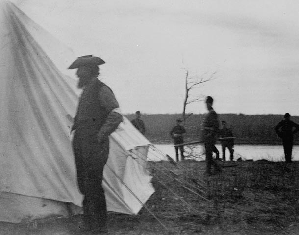 Riel in Middleton's camp