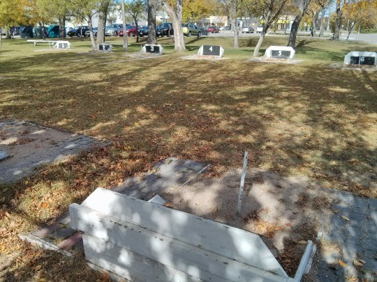 A sign I'm in the west: horseshoe pits.